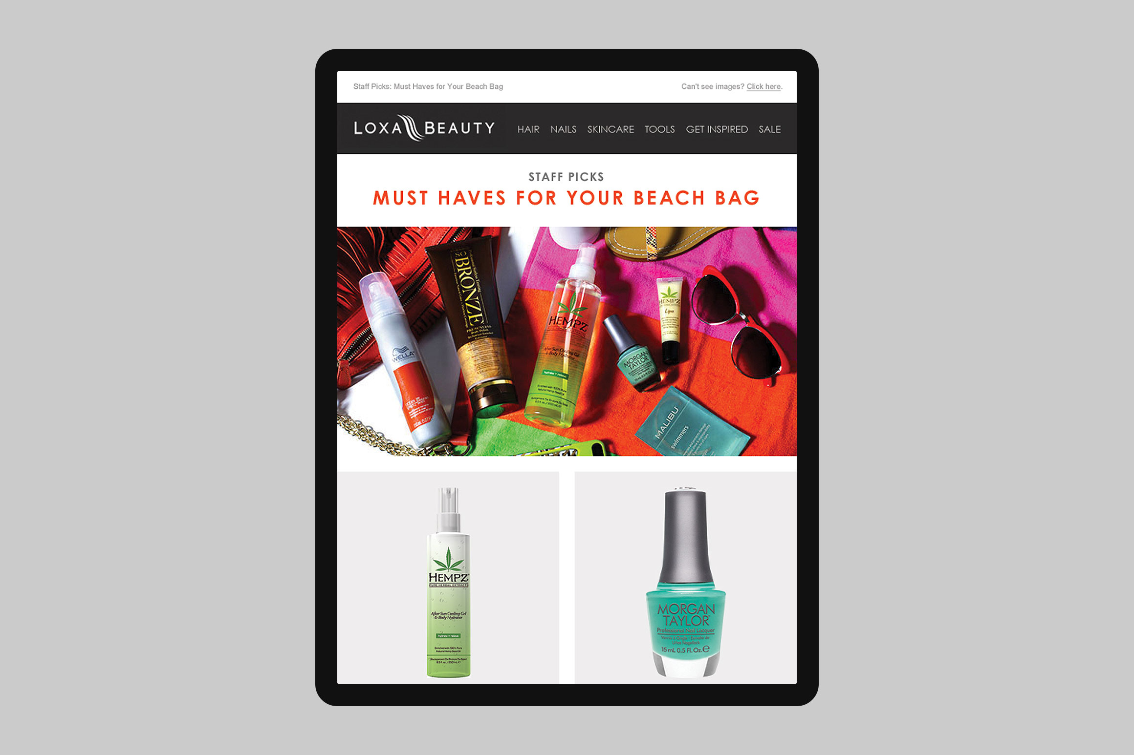 Loxa Beauty Beach Bag Email