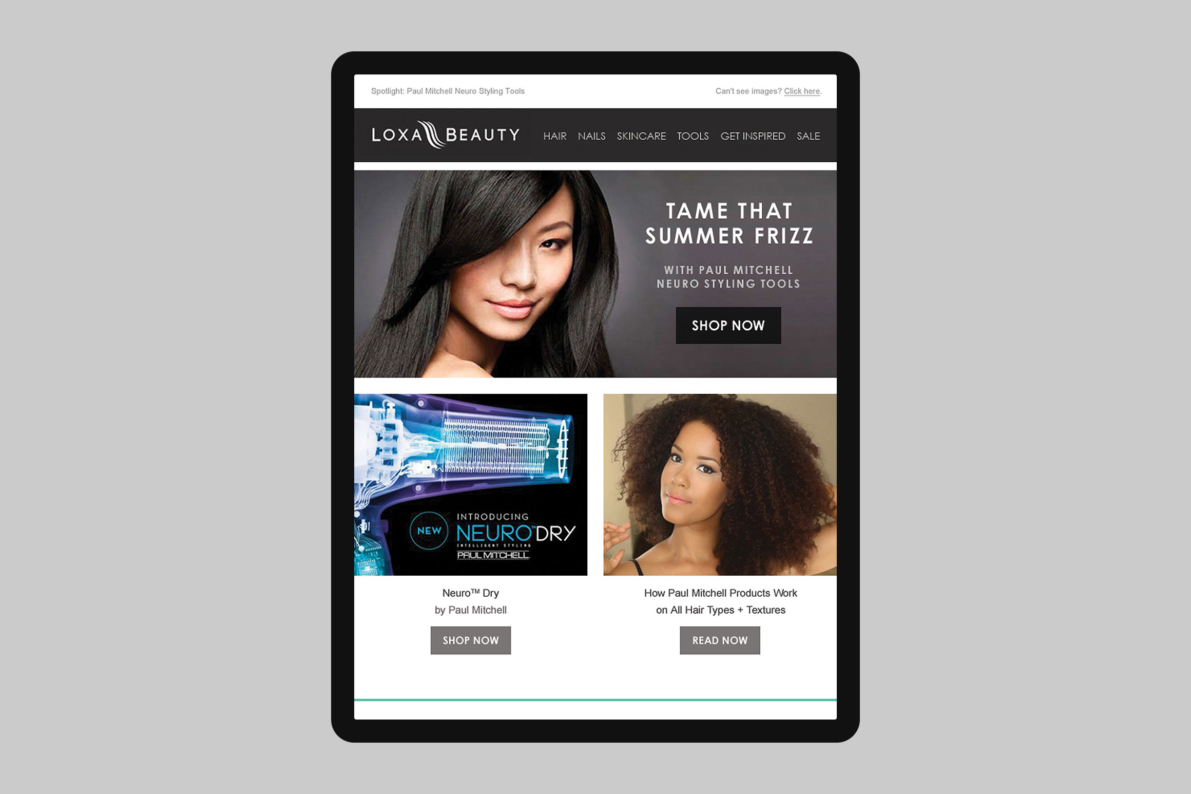 Loxa Beauty Brand Promo Email