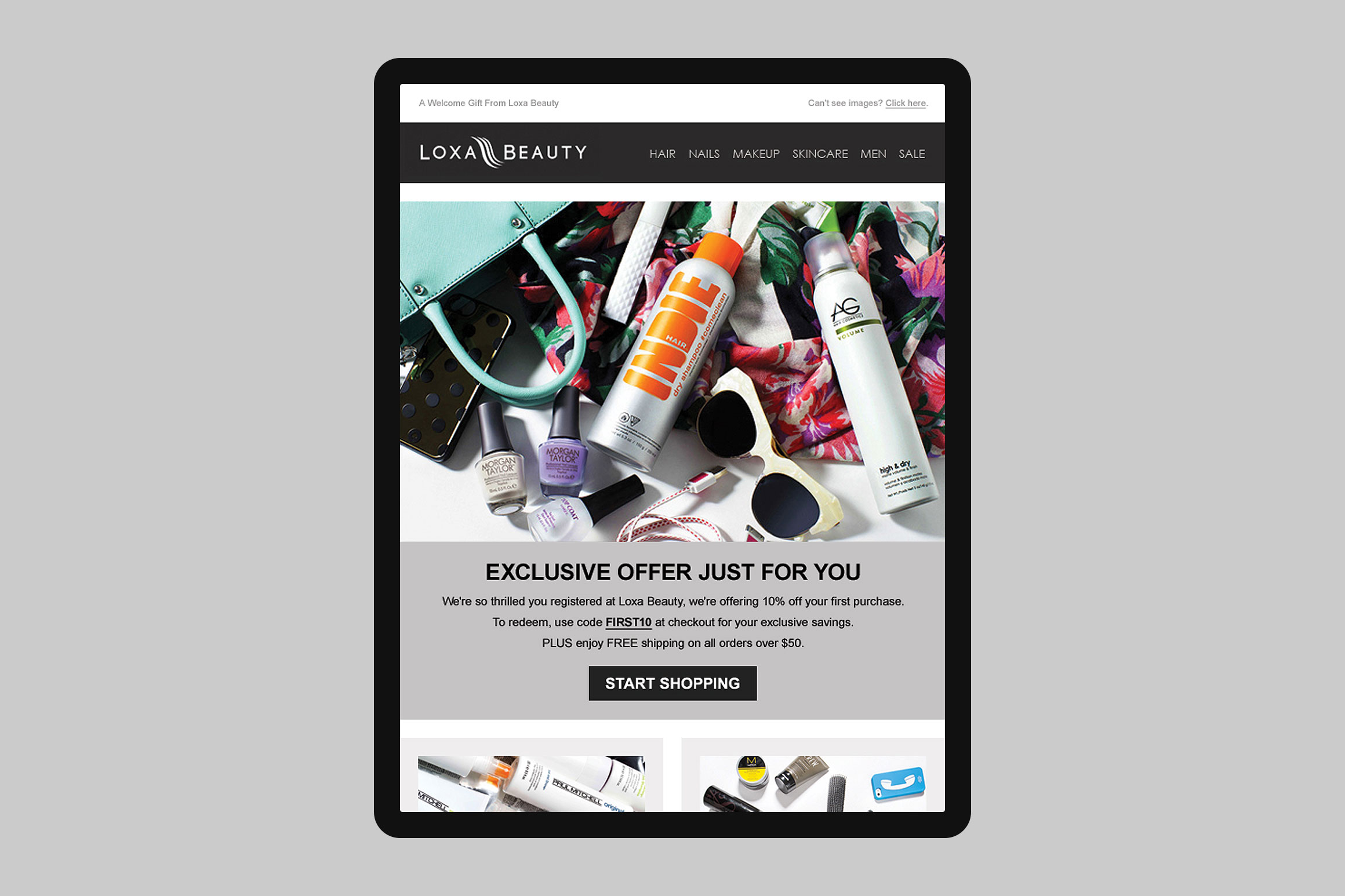 Loxa Beauty Welcome Drip 3 Email