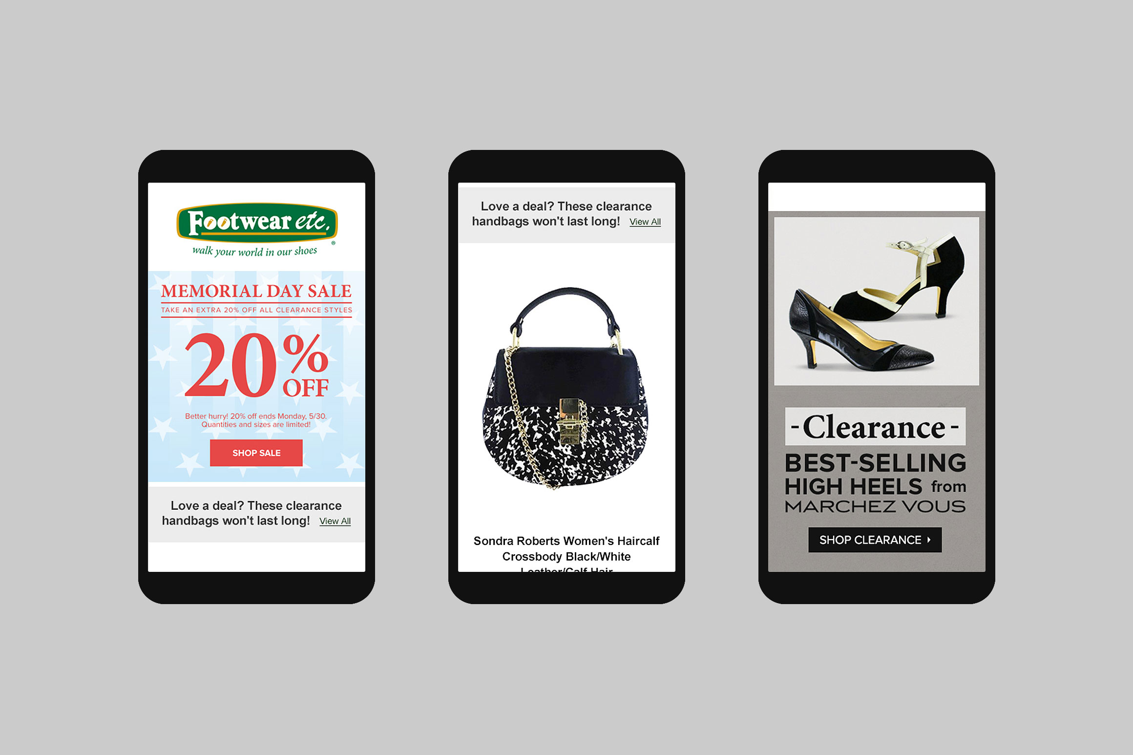 Footwear etc. Mobile Email Template #2