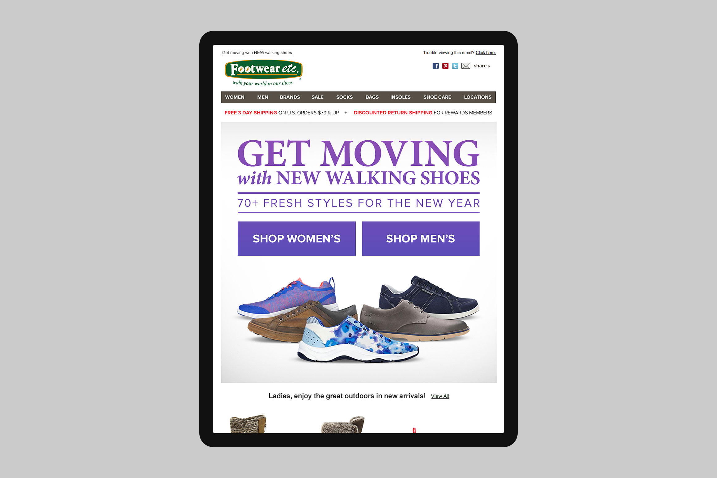 Footwear etc. Email Template #1