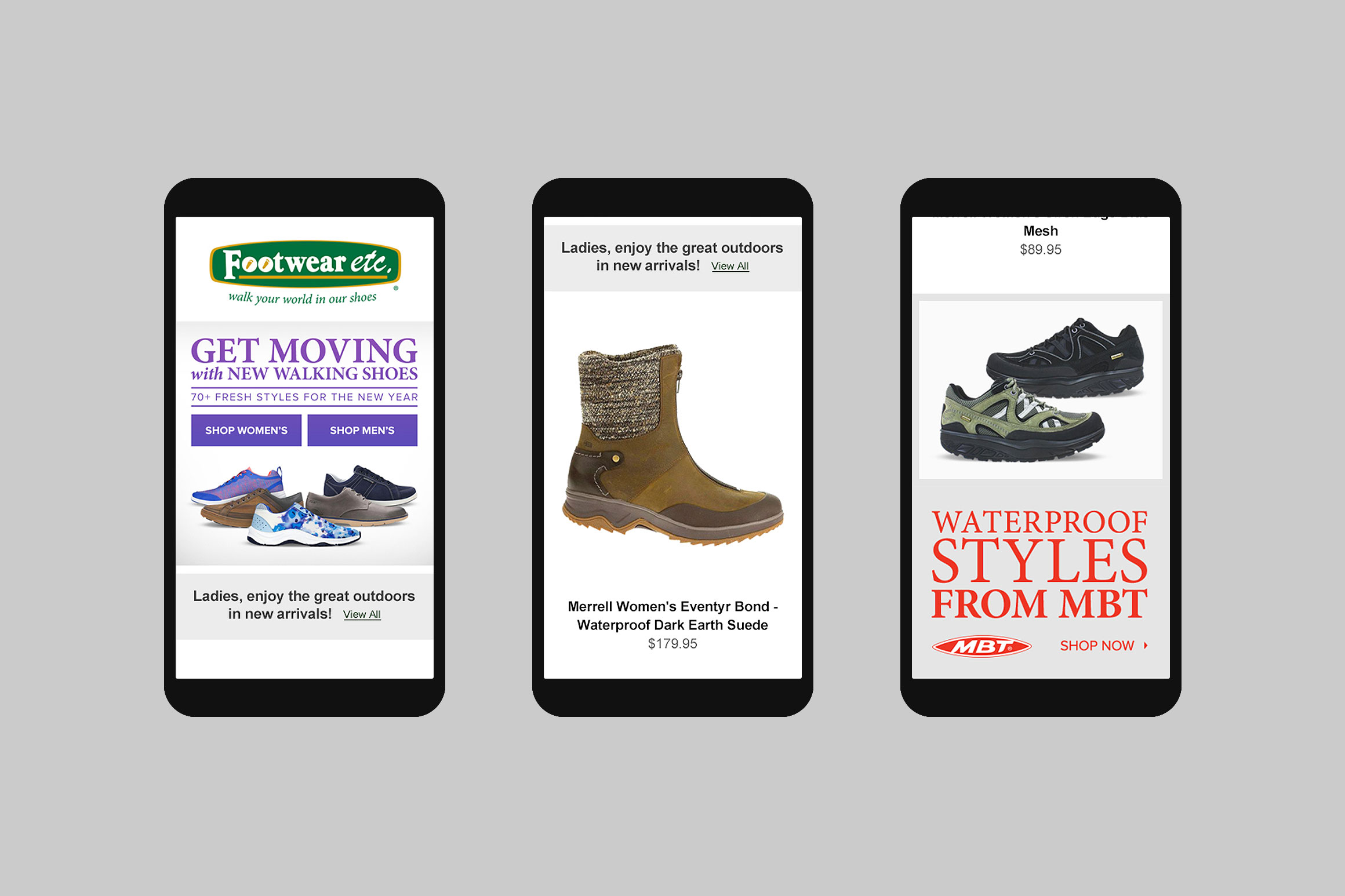Footwear etc. Mobile Email Template #1