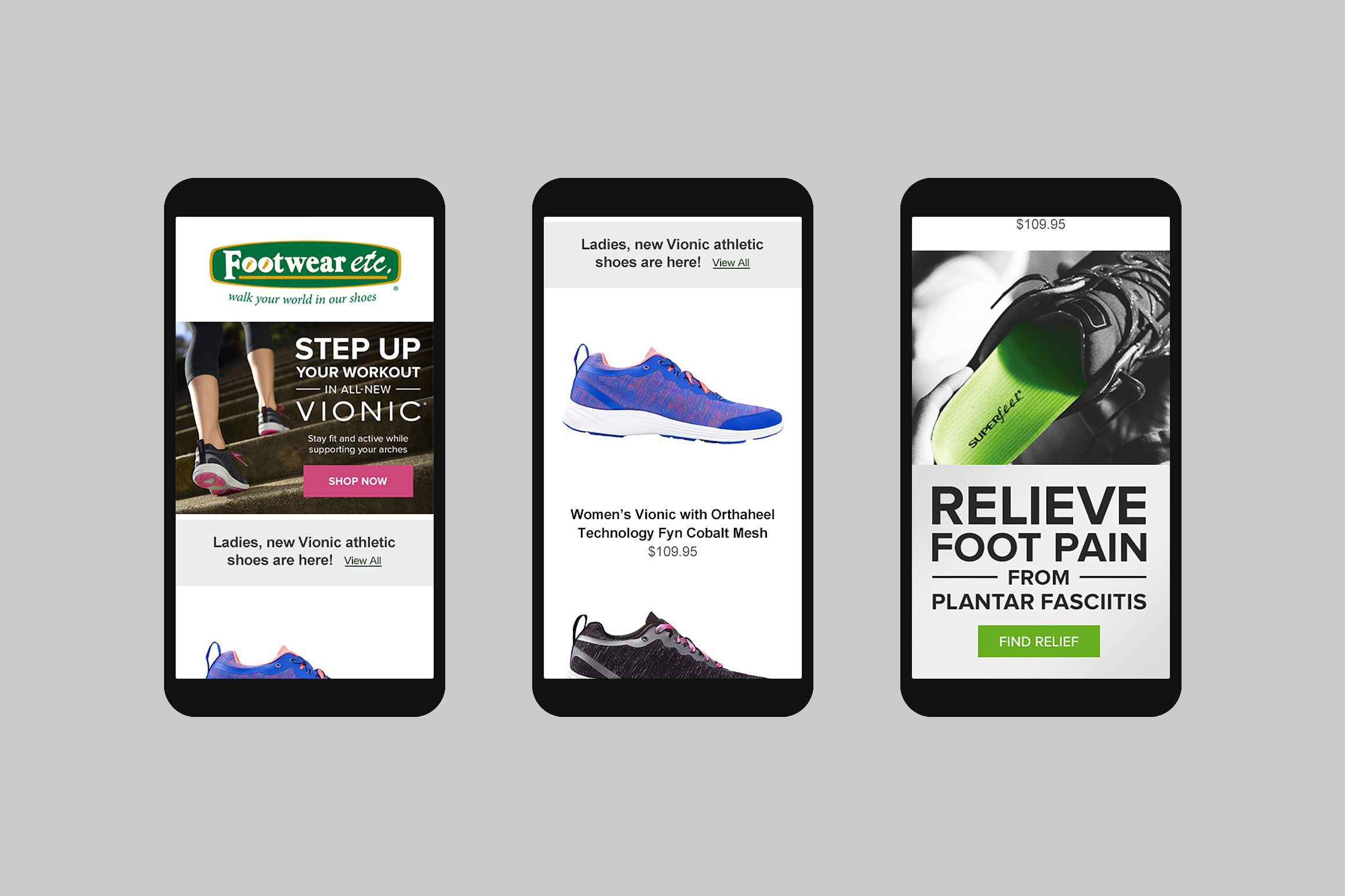 Footwear etc. Mobile Email Template #3