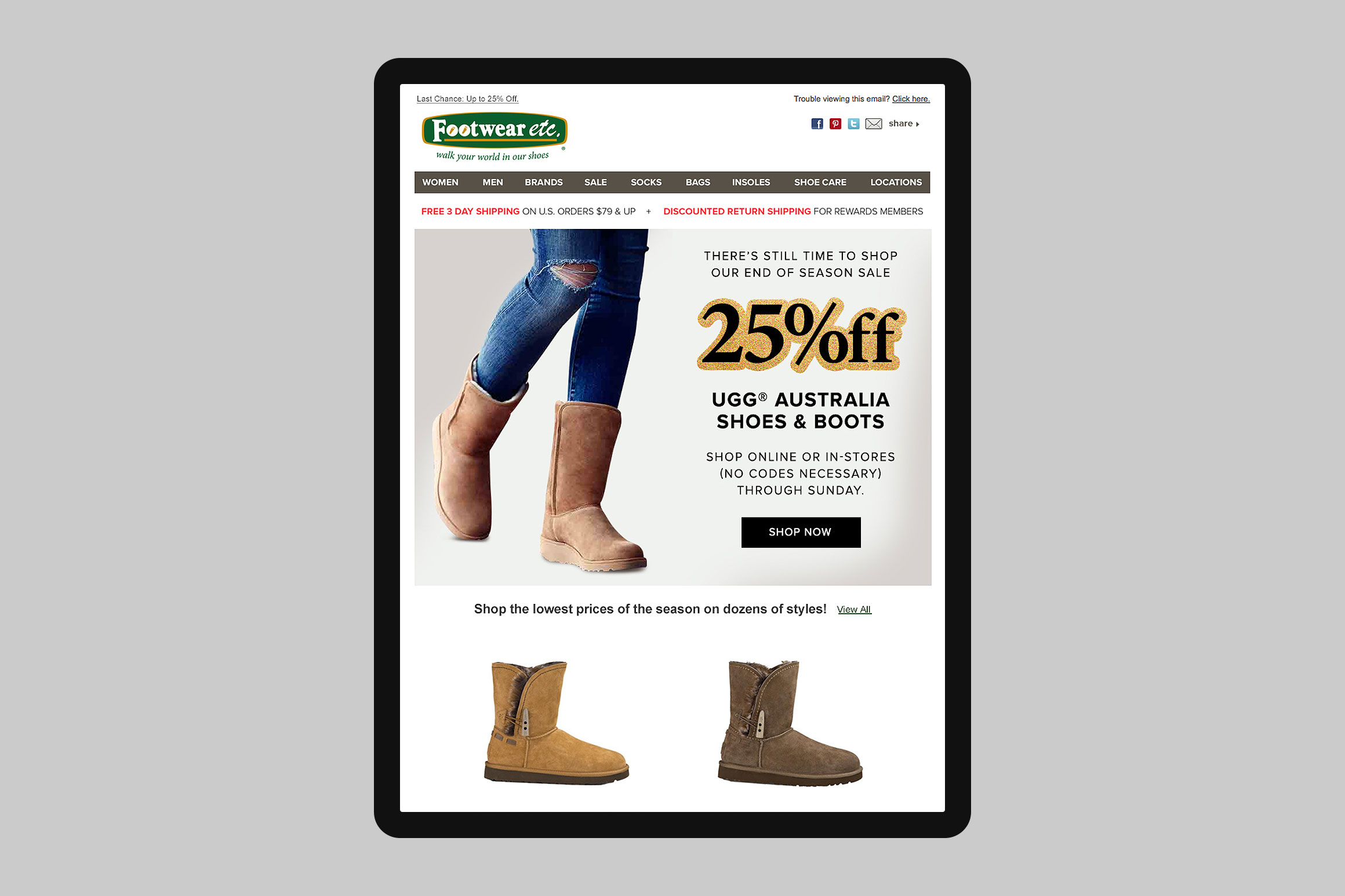 Footwear etc. Email Template #5