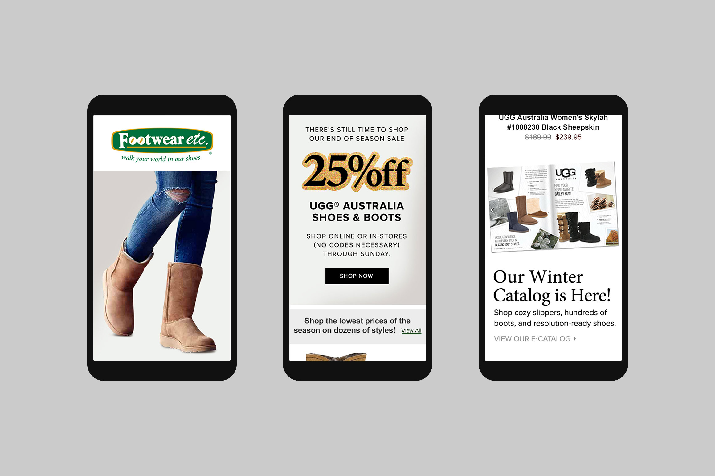 Footwear etc. Mobile Email Template #5