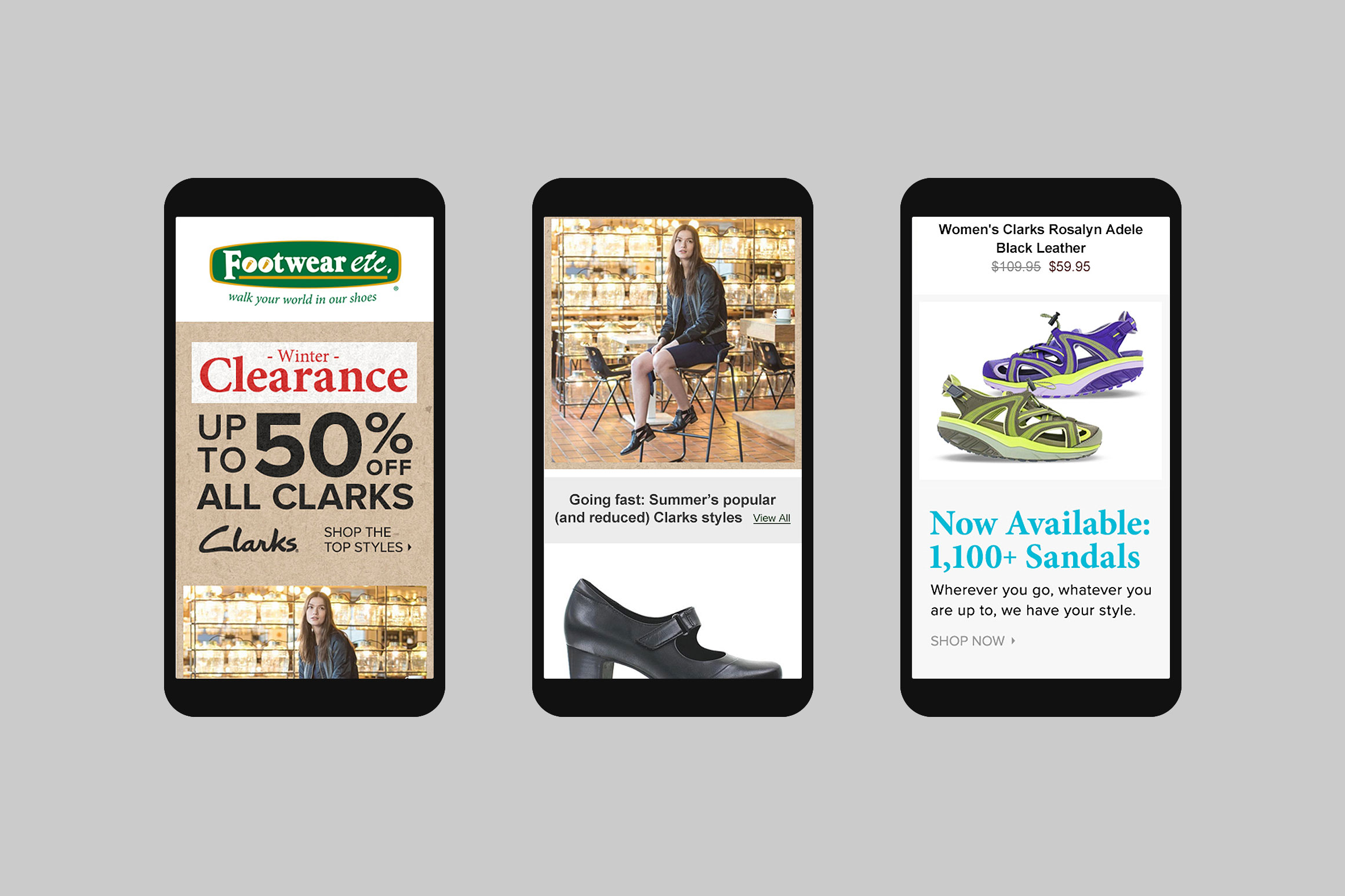 Footwear etc. Mobile Email Template #4