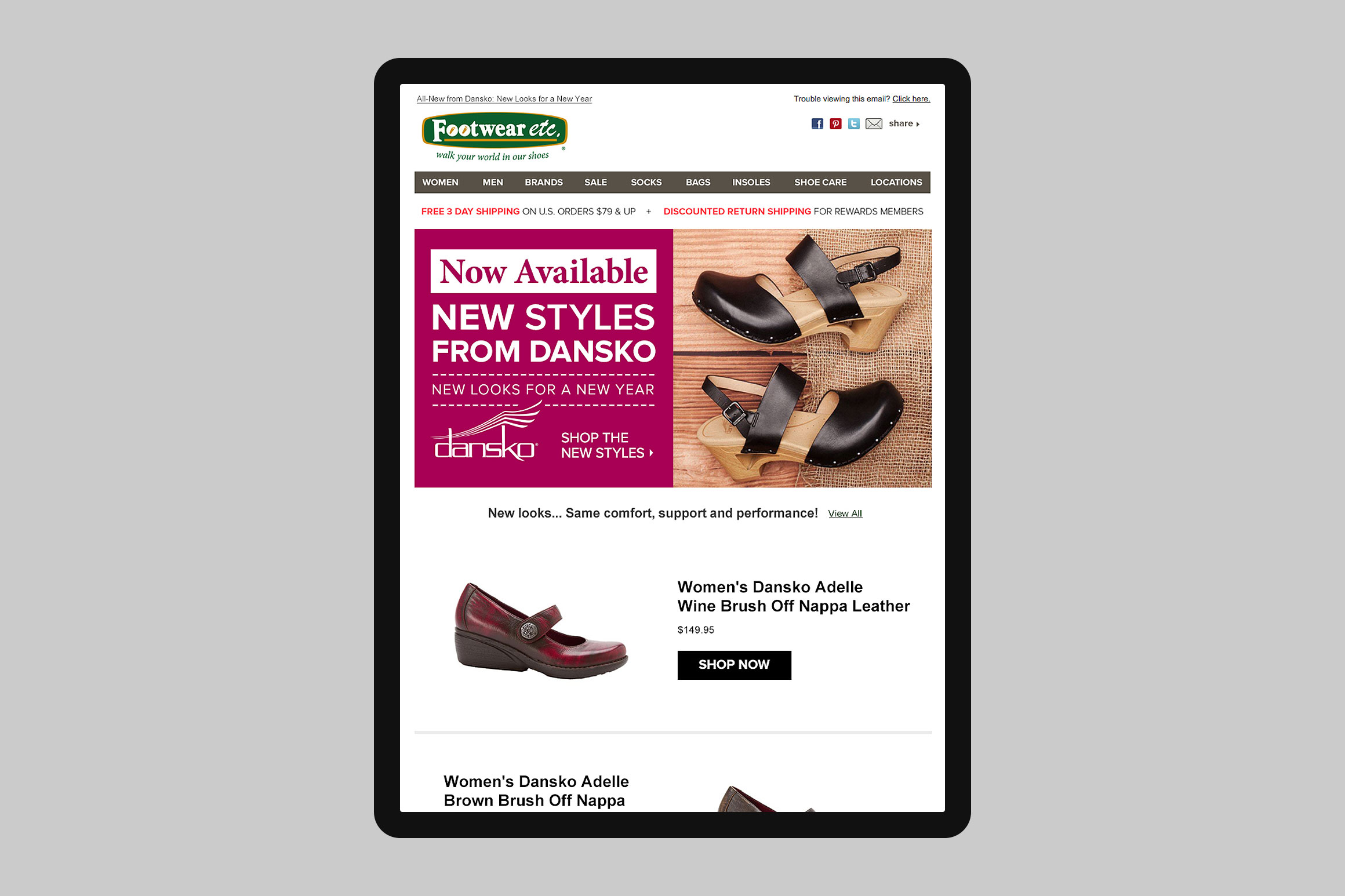 Footwear etc. Email Template #6
