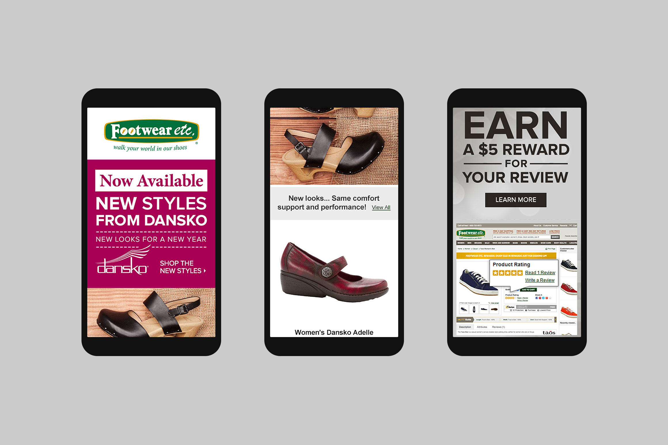 Footwear etc. Mobile Email Template #6