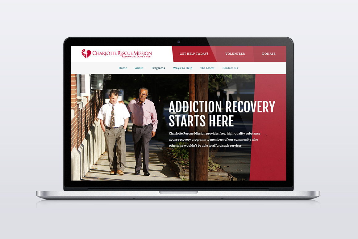 Charlotte Rescue Mission Website Screen Shot 3