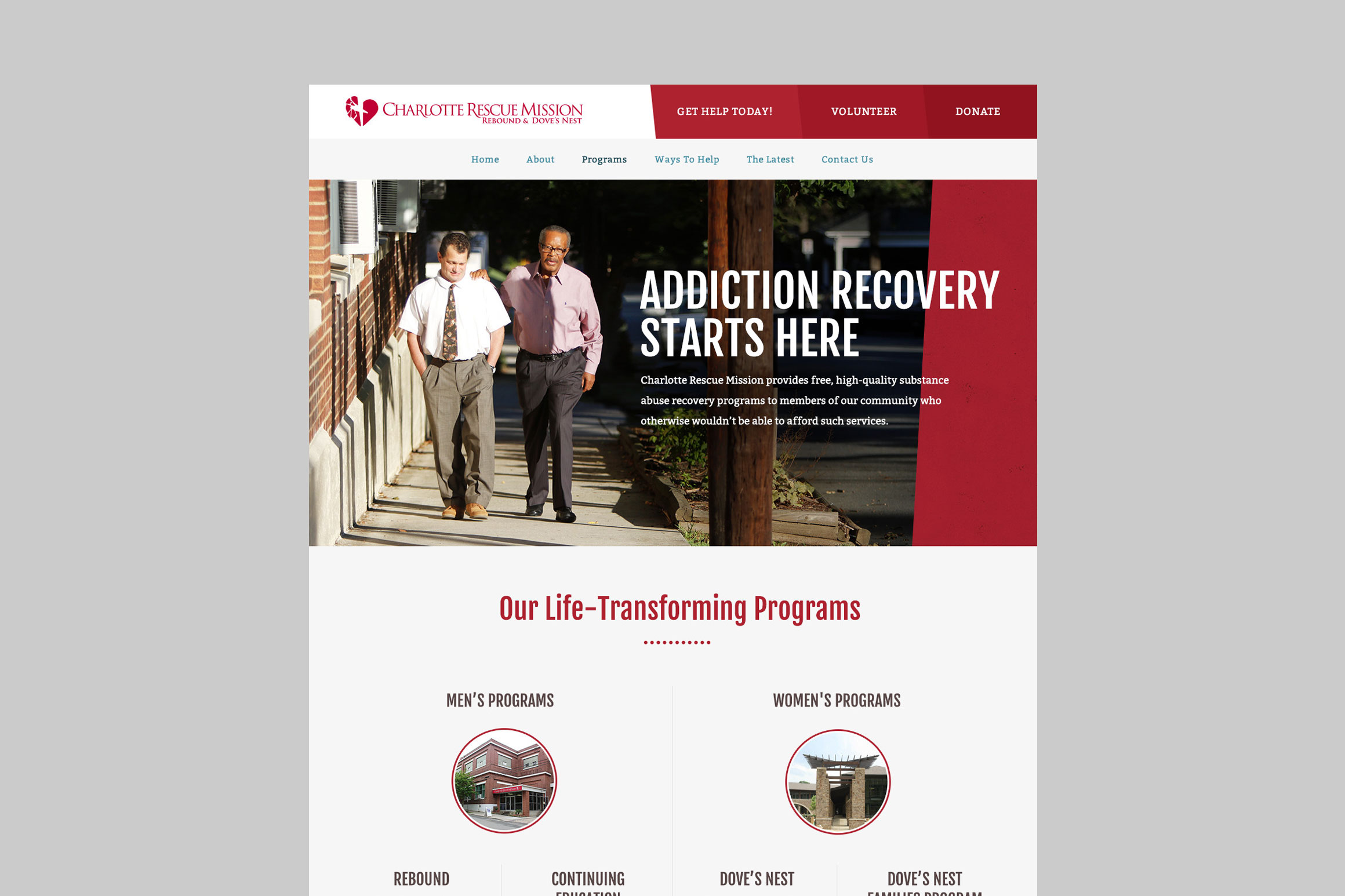 Charlotte Rescue Mission Programs Page