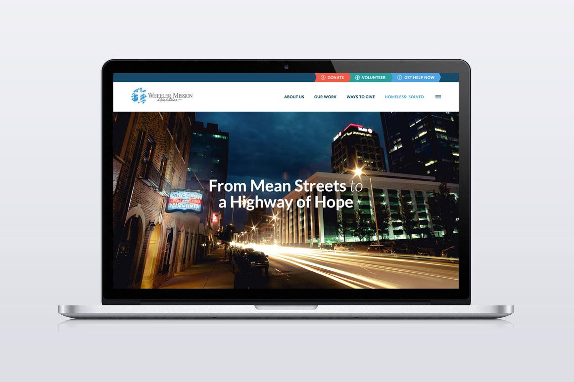 Wheeler Mission Ministries Website Screen Shot