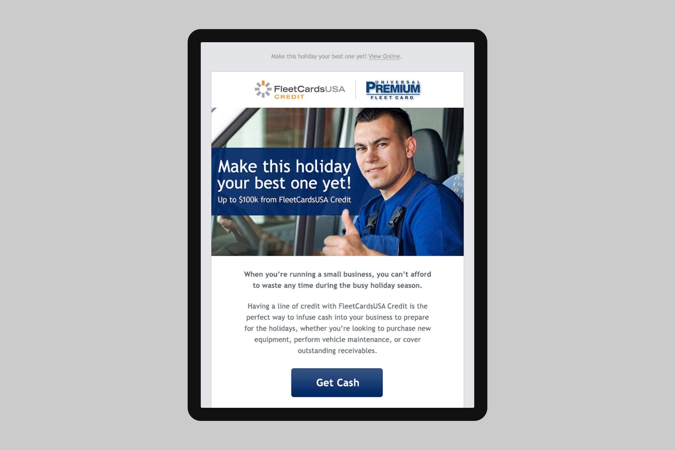 Universal Premium Holiday Email