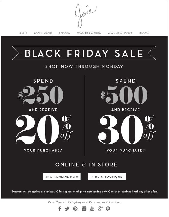 Joie Black Friday Email