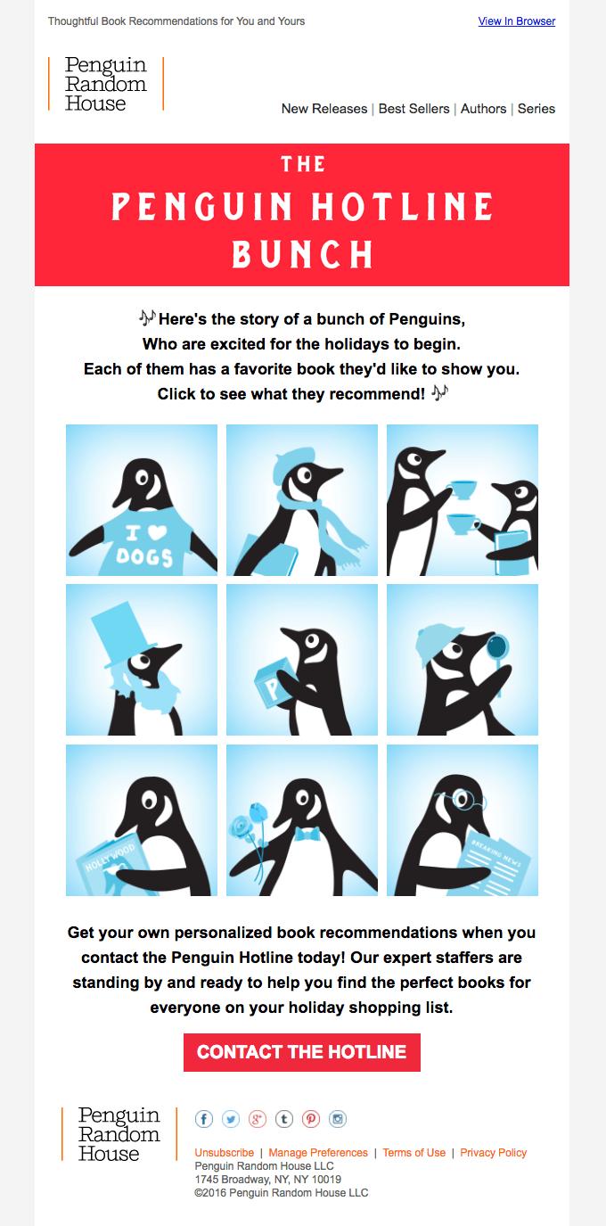 Penguin Black Friday Email
