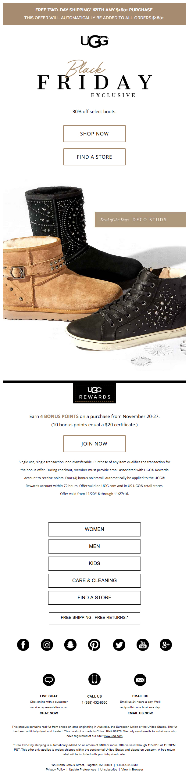 UGG Friday Email