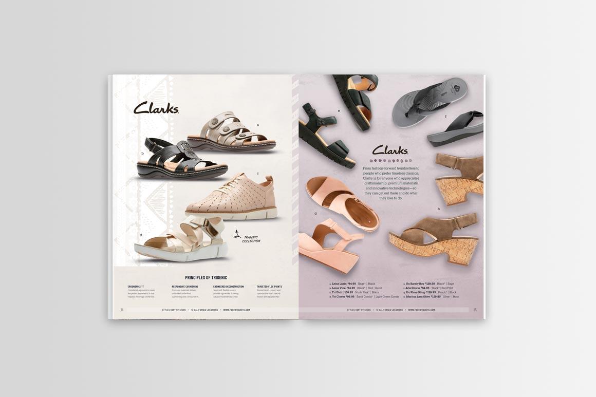 Footwear etc. Catalog Design Spread