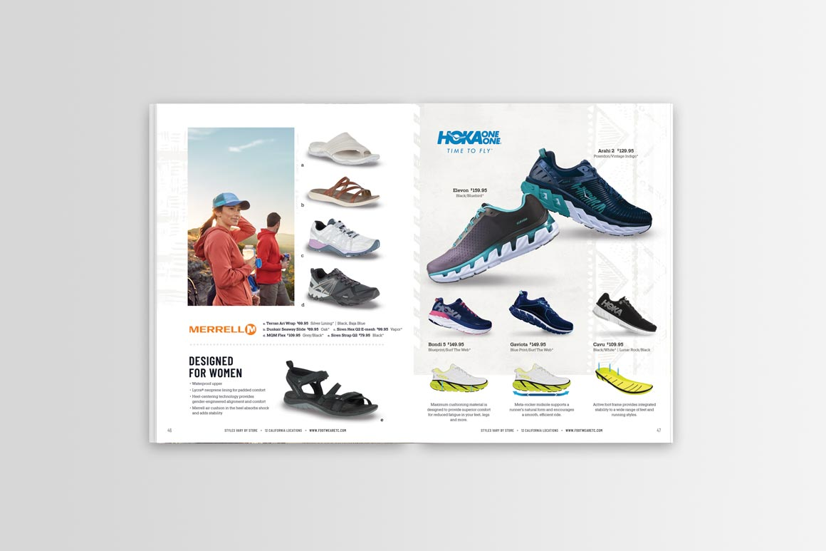 Footwear etc. Catalog Design Spread