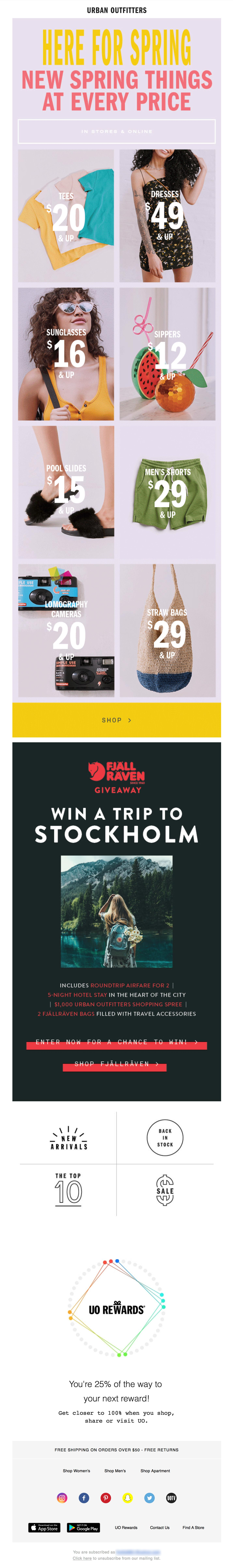 Urban Outfitters: Spring Essentials Email