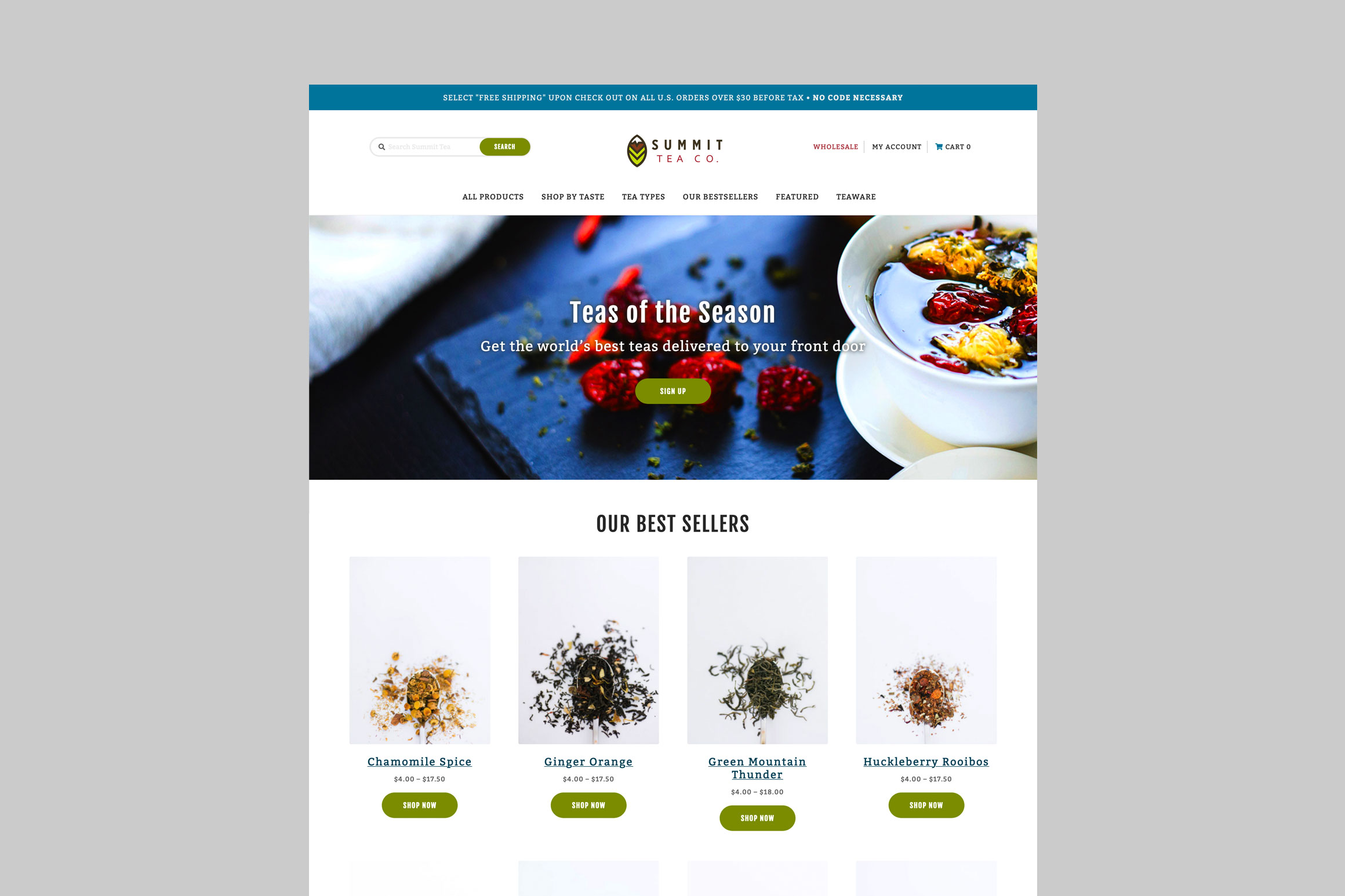Summit Tea Homepage