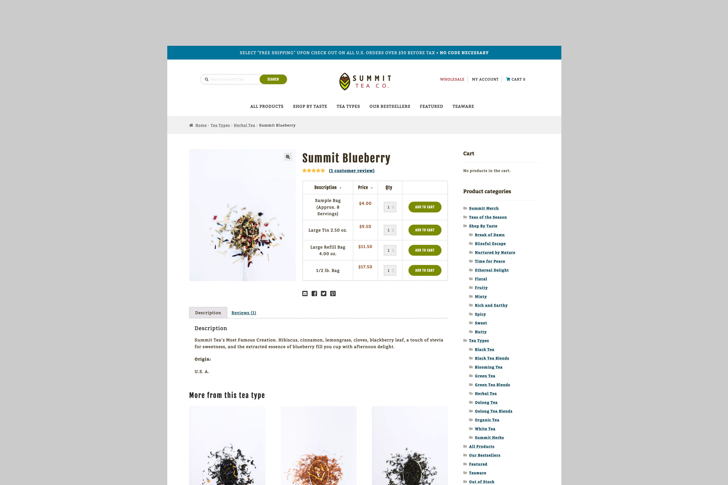 Summit Tea Product Page