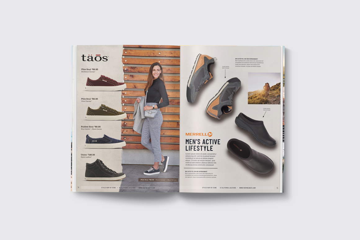 Footwear etc. Fall Catalog Hero