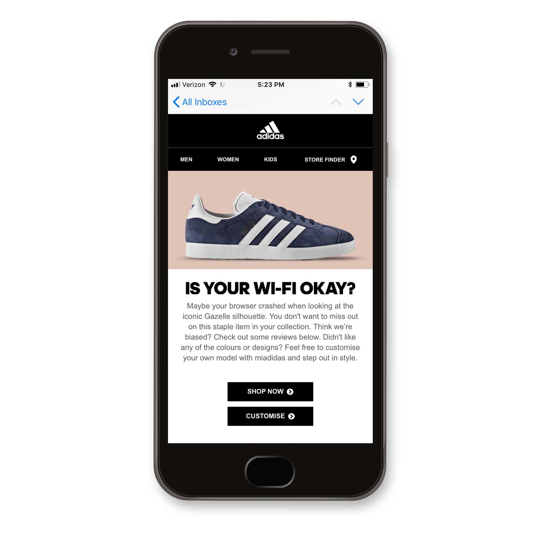 Adidas Abandonment Email
