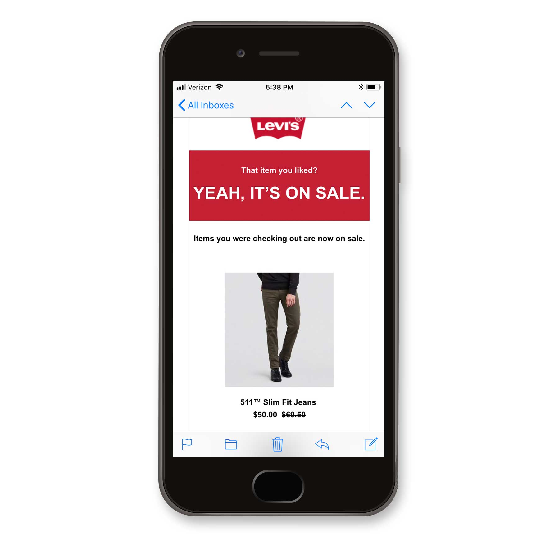 Levis Product Abandonment Email