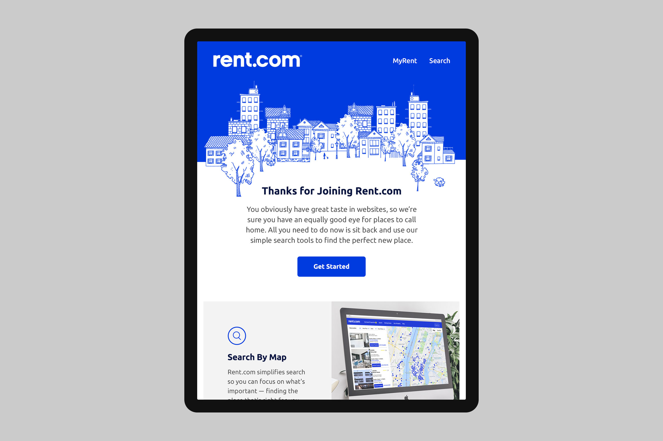 Rent.com Welcome Email