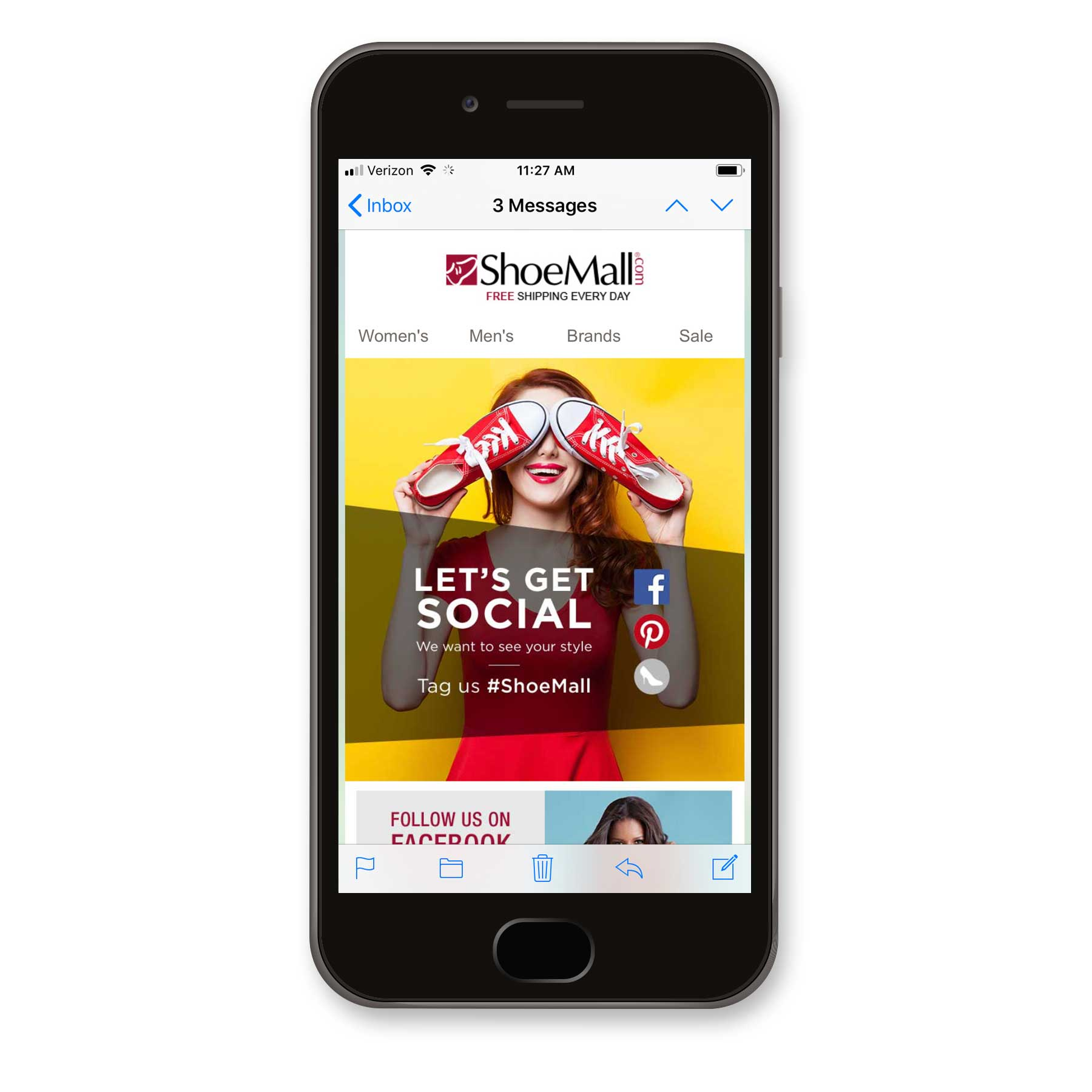 ShoeMall Social Media Email