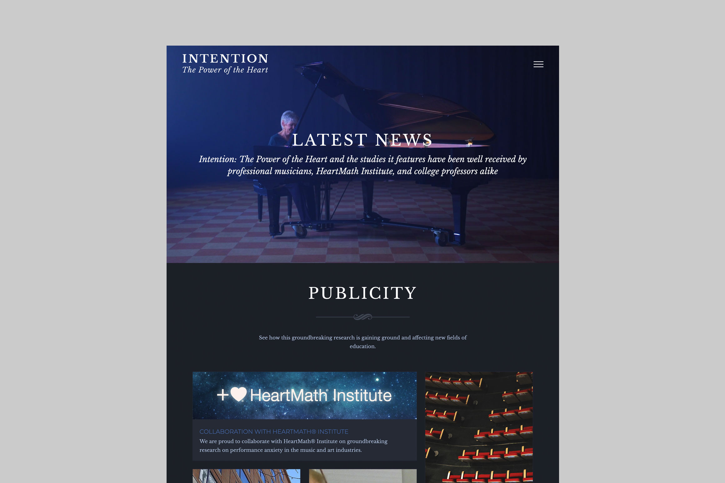 Intention Documentary Website - Latest News