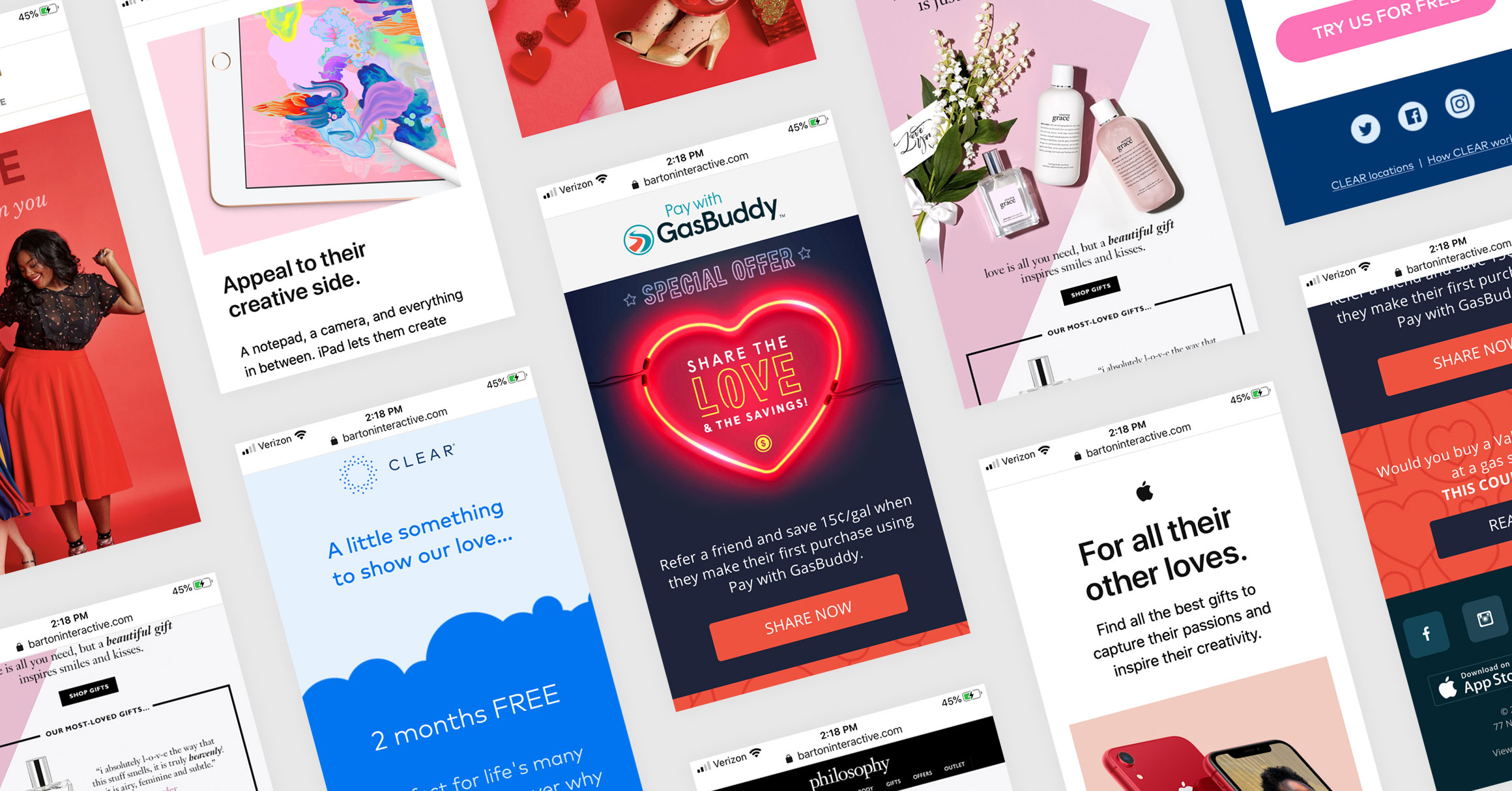 Valentine's Day Email Roundup