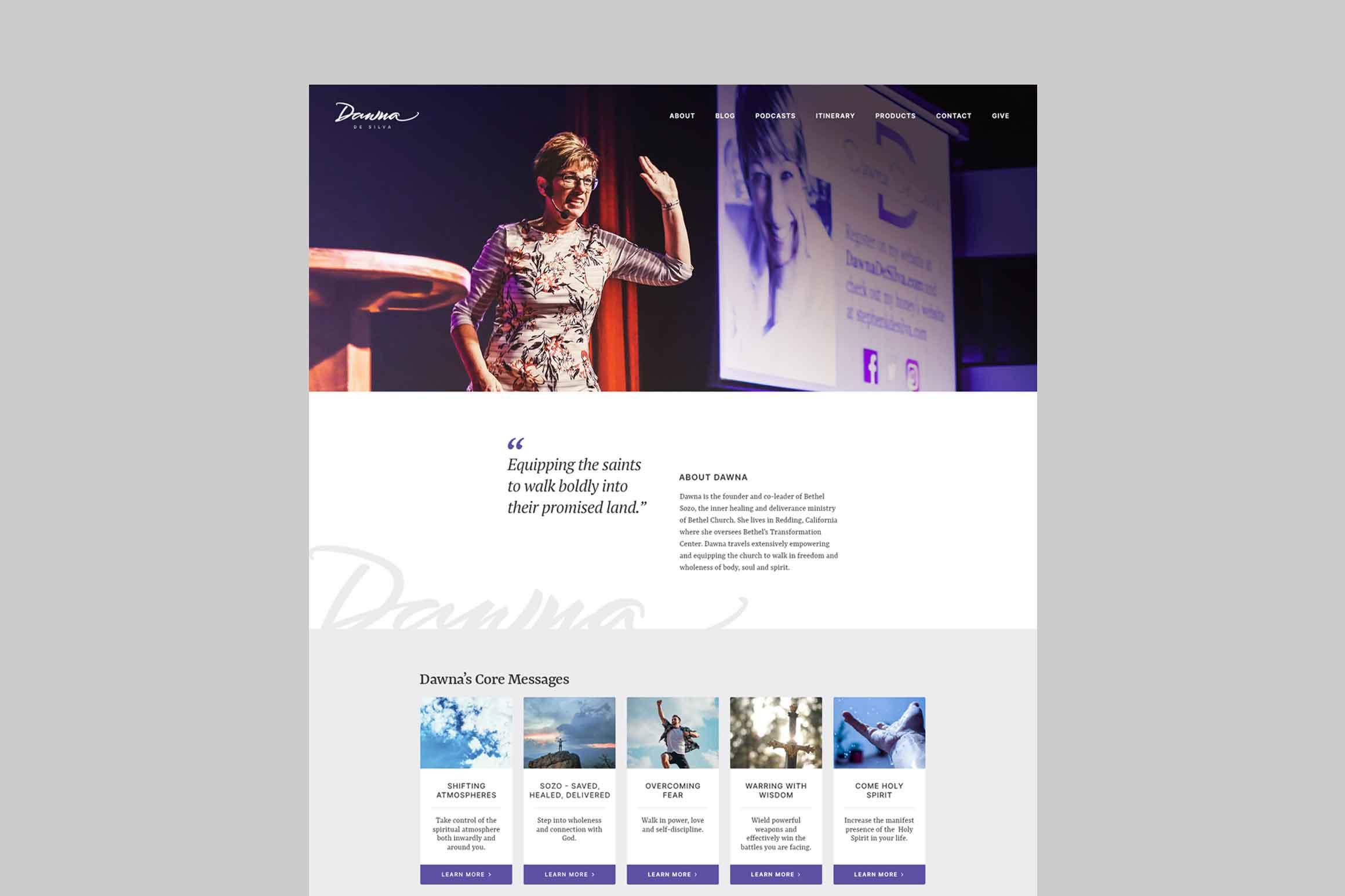 Dawna De Silva Website Redesign