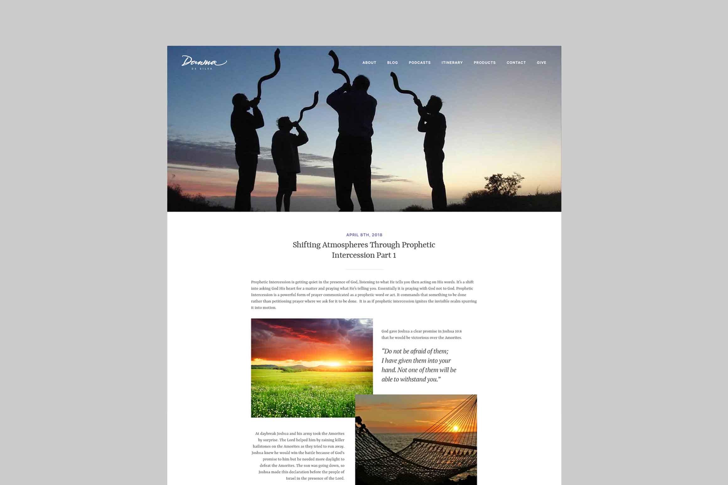 Dawna De Silva Website Blog Post Page