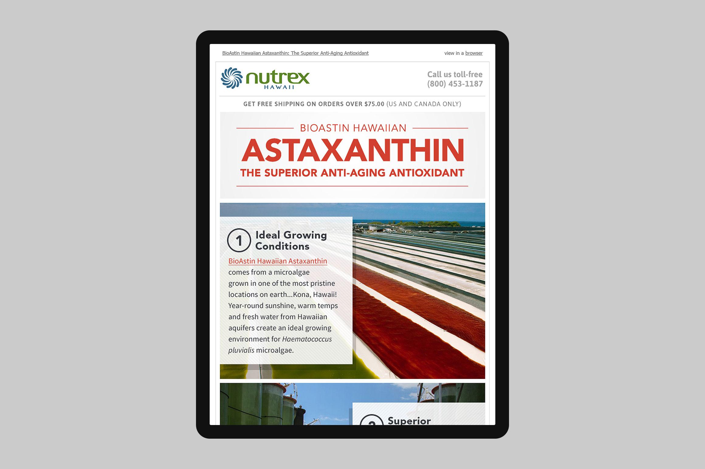 Nutrex Hawaii Astaxanthin Journey Email