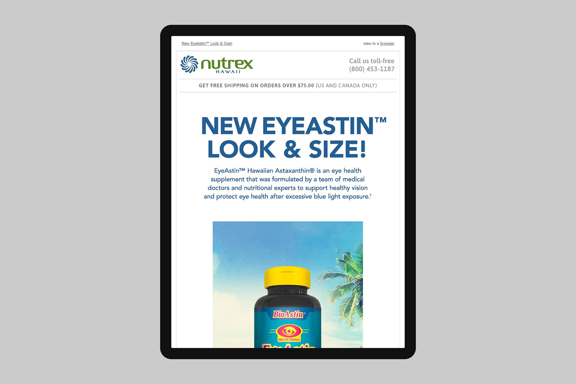 Nutrex Hawaii EyeAstin Email