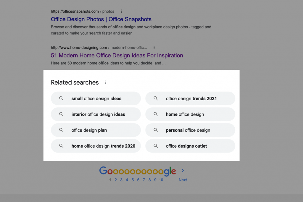 Using Related searches in Google for SEO keyword research ideas