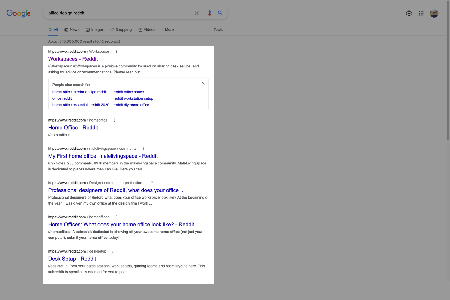 Searching Redding for SEO keyword research ideas